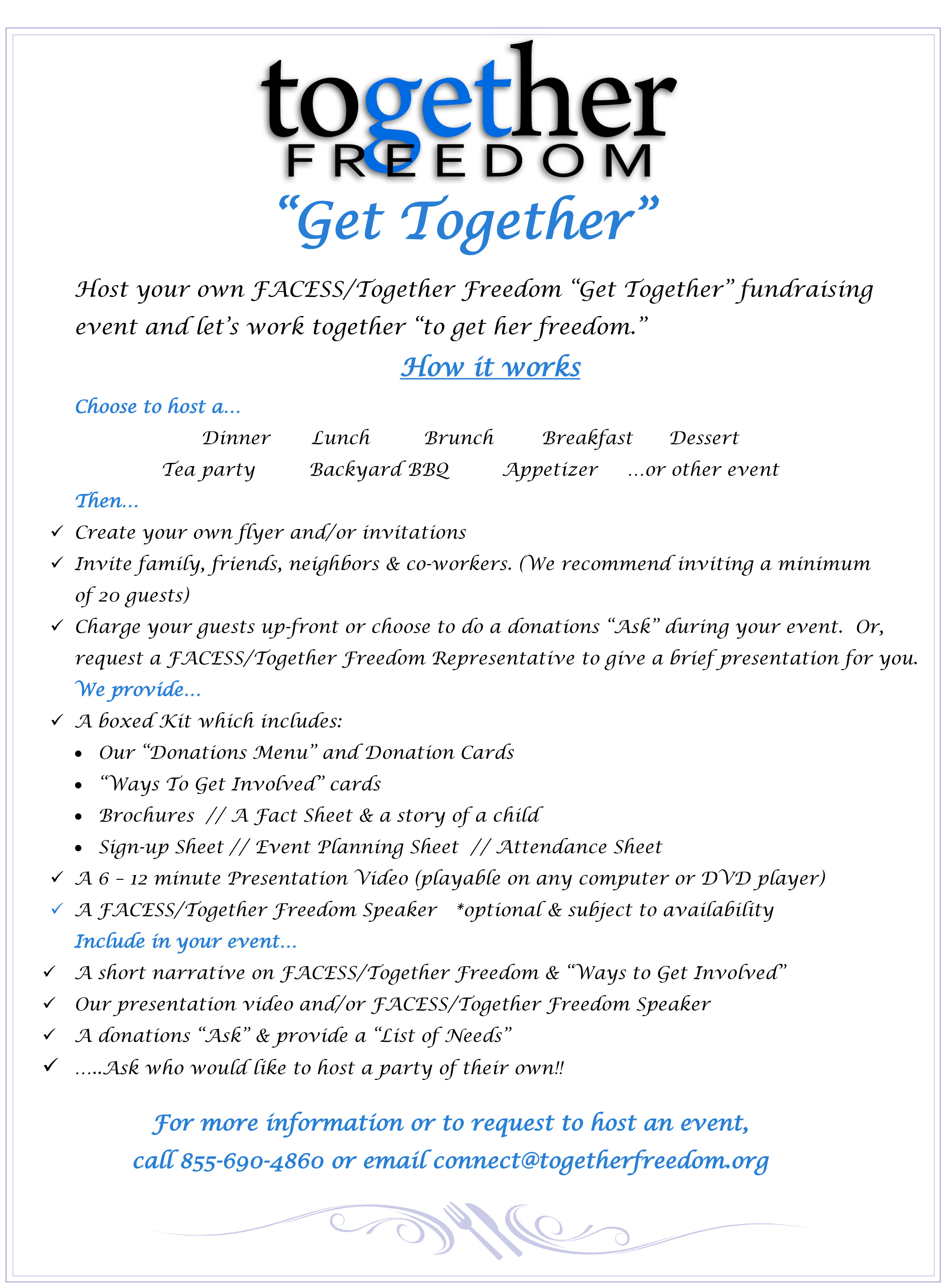 Host a Together Freedom Get Together Party